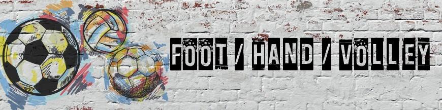 foot hand volley model-concept